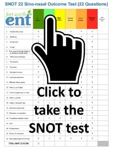 Nasal Obstruction Sino-nasal Outcome Test (SNOT-22)