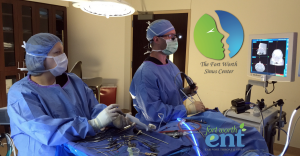 After Endoscopic Nasal Polyp Surgery - Dr Watkins operating at the Fort Worth Sinus Center
