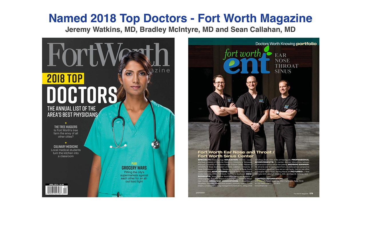 You are here: Home / Our Team / Jeremy P. Watkins, MD – Otolaryngologist Jeremy P. Watkins, MD – Otolaryngologist Top Doctor Fort Worth Magazine